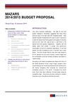 Mazars - Hong Kong budget 2014 / 2015 proposal